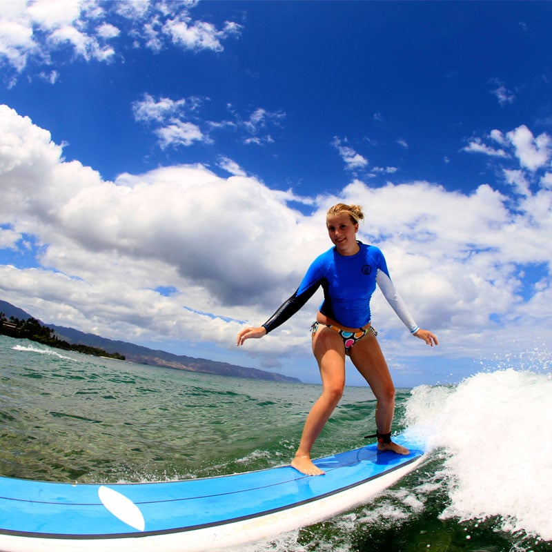 Beginner Surf Lessons on the North Shore of Oahu